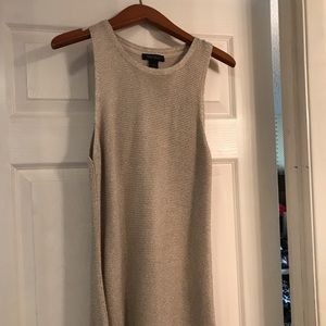 WHBM gold shimmer sweater tank,